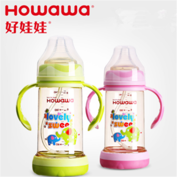 Lebar Leher Anti-Kelengkungan PPSU Baby Feeding Bottle