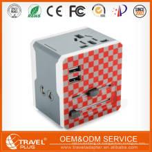 Adaptador de adaptador universal de viagem de melhor qualidade com usb US AU EU UK Travel adapter