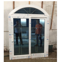 Fenêtre coulissante en PVC cintrée avec garantie de 30 ans sur la fenêtre coulissante en PVC
