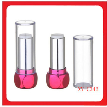 Red Color Round Lipstick Case