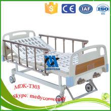 MDK-T303 2 manivelas cama hospitalar manual com duas funções