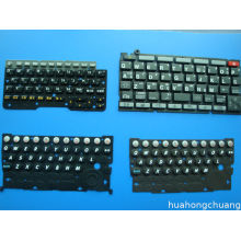 Black Remote Controllers Silicone Rubber Keypad Cover With Backlight