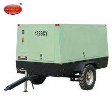 Towable Twin Diesel Rotary Screw Air Compressor