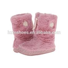 Pantoufle de fantaisie de chambre pour les filles Chaussons de bottes d'hiver pour enfants