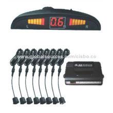 LED Parking Sensor with Waterproof Connector Sensor and Smart Moon Digital Display Screen