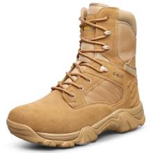 Bottes de combat militaire en cuir véritable de haute qualité et bottes de désert (31001)