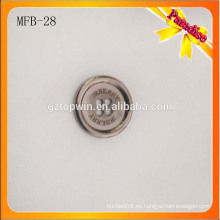 MFB28 La forma redonda de gama alta cepilló el metal del arma 4 agujeros que cosían el botón de la aleación del cinc para los pantalones del juego