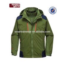 invierno al aire libre warmly hombres 3 en 1 chaqueta de intercambio