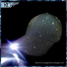 2015 nuevo producto sombrero China custom custom LED béisbol fabricante