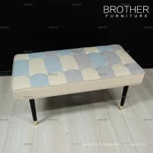 Mobilier d'habitation blanc design moderne chambre à coucher lit rembourrage banc