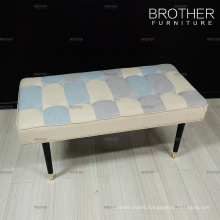 Home furniture white design modern bedroom upholstery bed bench
