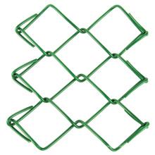 installation de crochets pour clôture à mailles losangées intérieure