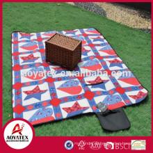 Neue Design-Mode-Polarfleece-wasserdichte Picknickdecke im Freien