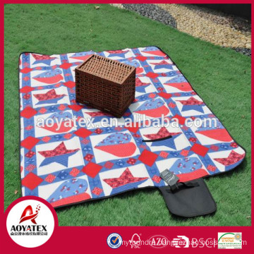 New design fashionable polar fleece waterproof outdoor picnic blanket
