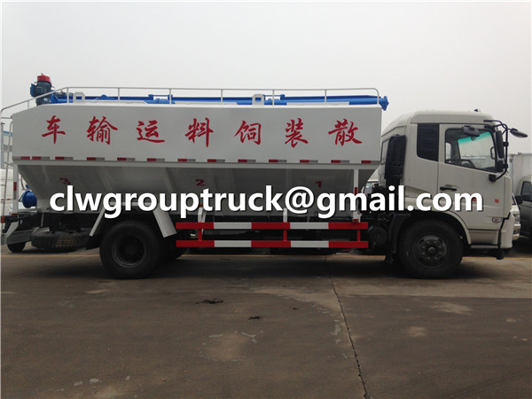 Bulk Animal Chicken Feed Transport Tank Truck
