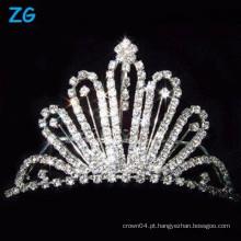 Elegante pentes de cristais franceses, pentes de cristal nupcial, pentes de cabelo de fantasia do casamento
