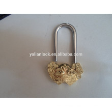 New Design Swan Type Golden Heart Padlock