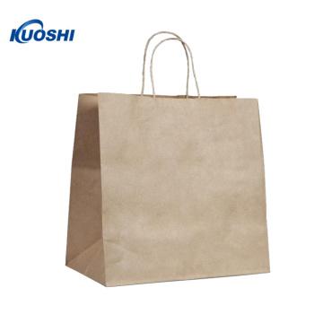 Bolsa de papel kraft marrón Eco con logotipo