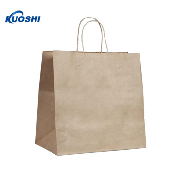 Eco brown kraft paper bag with Logo