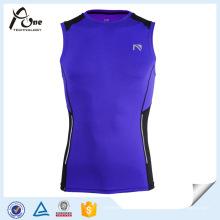 Camiseta al aire libre de encargo de la compresión del atleta del diseño al por mayor