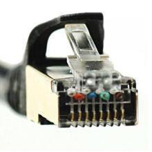 Cat7 High Speed Ethernet LAN Netzwerkkabel Gold überzogen 3m