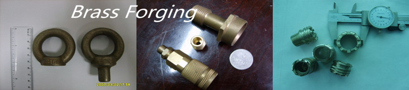 High precision brass and aluminum forging part