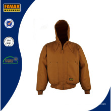Canvas Duck Shell Quilted to Flame Retardant Twill Lining Workwear Jacket