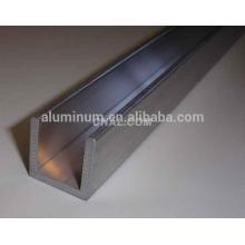 Types de canaux en aluminium