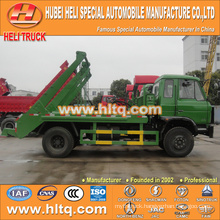 DONGFENG 170hp 4x2 container hooklift garbage truck arm roll garbage truck 8cbm cheap and fine in China