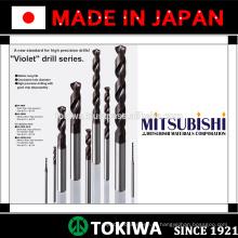 Broca altamente eficiente com longa vida útil. Fabricado pela Mitsubishi Materials & Kyocera. Feito no Japão
