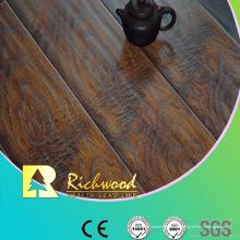 12.3mm relieve en relieve encerado con ranuras en V acanalado piso