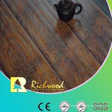 Le plancher lamianted cannelé par V-cannelé par orme de relief de 12.3mm