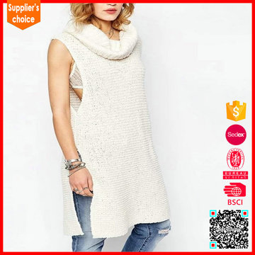 New design sleeveless custom hollow out fashion women sweater vest