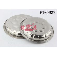 Stainless Steel Flower Deep Tray (FT-0637)