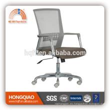CM-B213BSG-1 malla media de nuevo asiento de tela cromo nylon apoyabrazos base de nylon silla de oficina