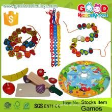Heißer Verkaufs-zwei Bären-Kleid-Puzzlespiel-Kasten-Spielzeug-pädagogische hölzerne DIY bördelt Kind-Spiele für Kinder
