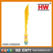 Funny 61CM Plastic flashing sword toy with music kids plastic samurai sword