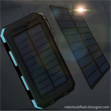 Bright LED Solar Power Bank com Bússola