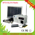 Solar 10w Power Generator With Radio