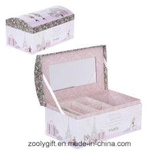 Papel de imprenta Caja de cosmética / Jewellry con espejo y cerradura