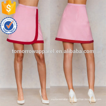 Wrapped A-Line Red And Pink Mini Summer Skirt Manufacture Wholesale Fashion Women Apparel (TA0044S)