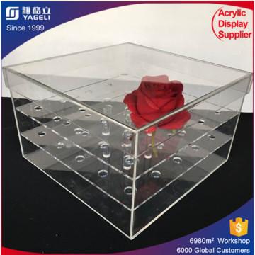 Nach Maß Blumen-Acryl-Blumen-Kasten-moderner Entwurf