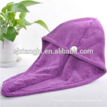 Toalla de microfibra para cabello seco y secado rápido