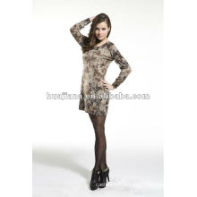 robe d'impression de chandail de cachemire de la mode des femmes
