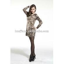 fashion women's cashmere sweater printing dress