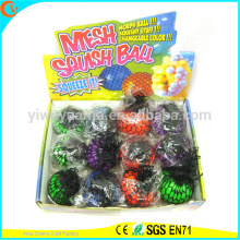 Hot Selling Novelty TPR LED Mesh Squish Ball
