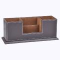 Faux Leather Desktop Organizer / Desktop Sorter