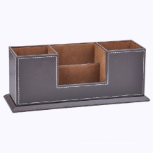 Faux Leather Desktop Organizer / Desktop Sorter