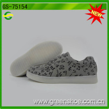 Grossiste Hommes Toile LED Chaussures Rechargeable