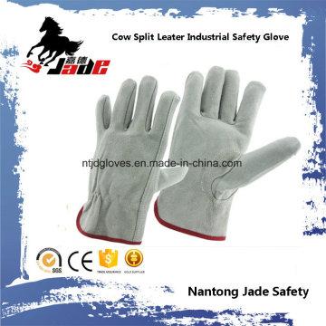 Luva de trabalho do condutor de segurança industrial de pele cinza Grey Cowhide